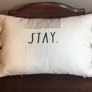 "NWT Rae Dunn ""Stay"" Pillow"
